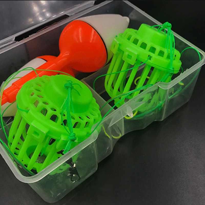 釣りフック球状フィーダーケージ先鋭化した釣り針モンスター文字列フック釣り用品鯉釣りグループスーツ