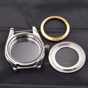 Image 5 - Watch Case  41mm Ceramic Bezel Mens316 SS dial hands fit Miyota 8205/8215,ETA 2836,DG2813/3804 mechanical Wristwatch waterproof
