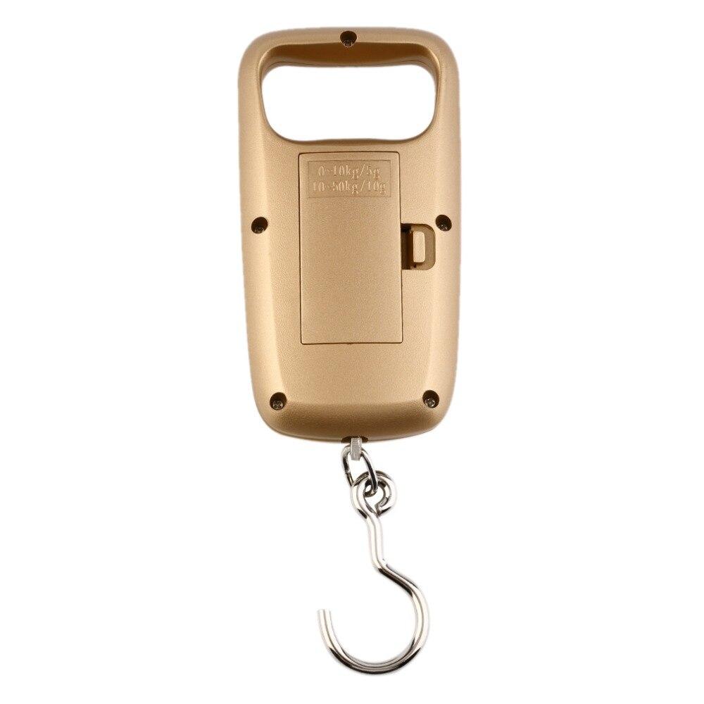 Миниатюрные весы карманные Портативный 50 кг ЖК Цифровые подвесные багажные Вес ing весы с крючком Электронные карманные весы