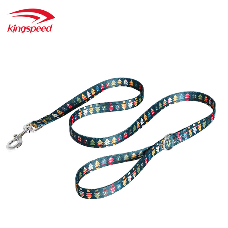 2019 Hot Sales Christmas Pet Supplies Dog Neck Ring Hand Holding Rope Pet Traction Pet Printed Neck Ring