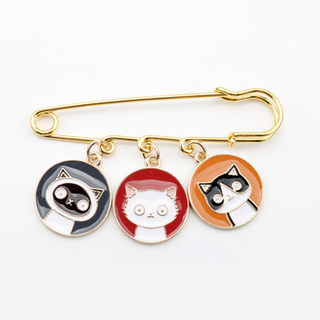 Cartoon Cat Lovely Mickey Enamel Pin Clothes Shirt Jeans Brooch Badge Charm Pins Metal Brooches for Women Men image