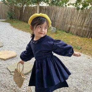 Image 2 - Ensembles de vêtements de princesse à manches longues avec mini jupe en coton de style coréen, à la mode, pour bébés filles, printemps nouveauté