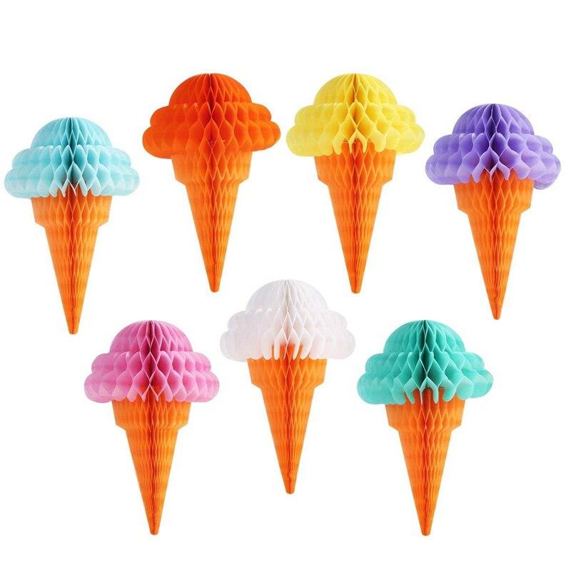 Ipalmay ハニカムボール 100 個夏のアイスクリーム紙結婚式の装飾イベントパーティーベビーシャワーの誕生日パーティー用品  グループ上の ホーム&ガーデン からの パーティー用自作デコレーション の中 1