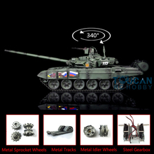 2.4G Henglong 1/16 Green 6.0 Upgraded Metal Version Russia T90 RTR RC Tank 3938 TH13012