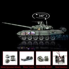 2.4G Henglong 1/16 녹색 TK 6.0S 업그레이드 된 금속 버전 러시아 T90 RTR RC 탱크 3938 TH13012