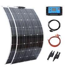 BOGUANG-kit de paneles solares, célula completa fotovoltaica de 100 vatios, 200 w, 300w, 400w, para batería de 12V y 24v, para casa, coche, barco y Yate
