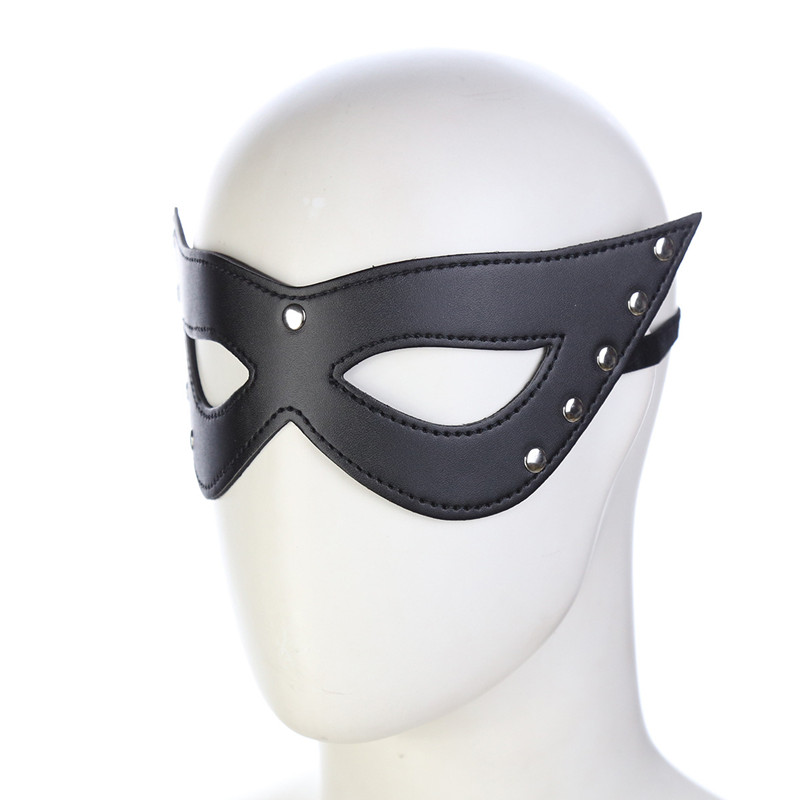 Sexy Lingerie  Porn Lingerie  Hollow Leather Mask Erotic Costumes Women Sexy Lingerie Hot Cosplay Eye Masks For Sex