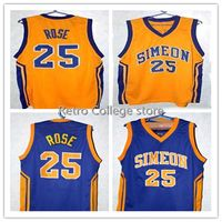 high quality DERRICK ROSE #25 SIMEON HIGH SCHOOL Throwback mens Basketball Jersey Embroidery Stitched any Number and name