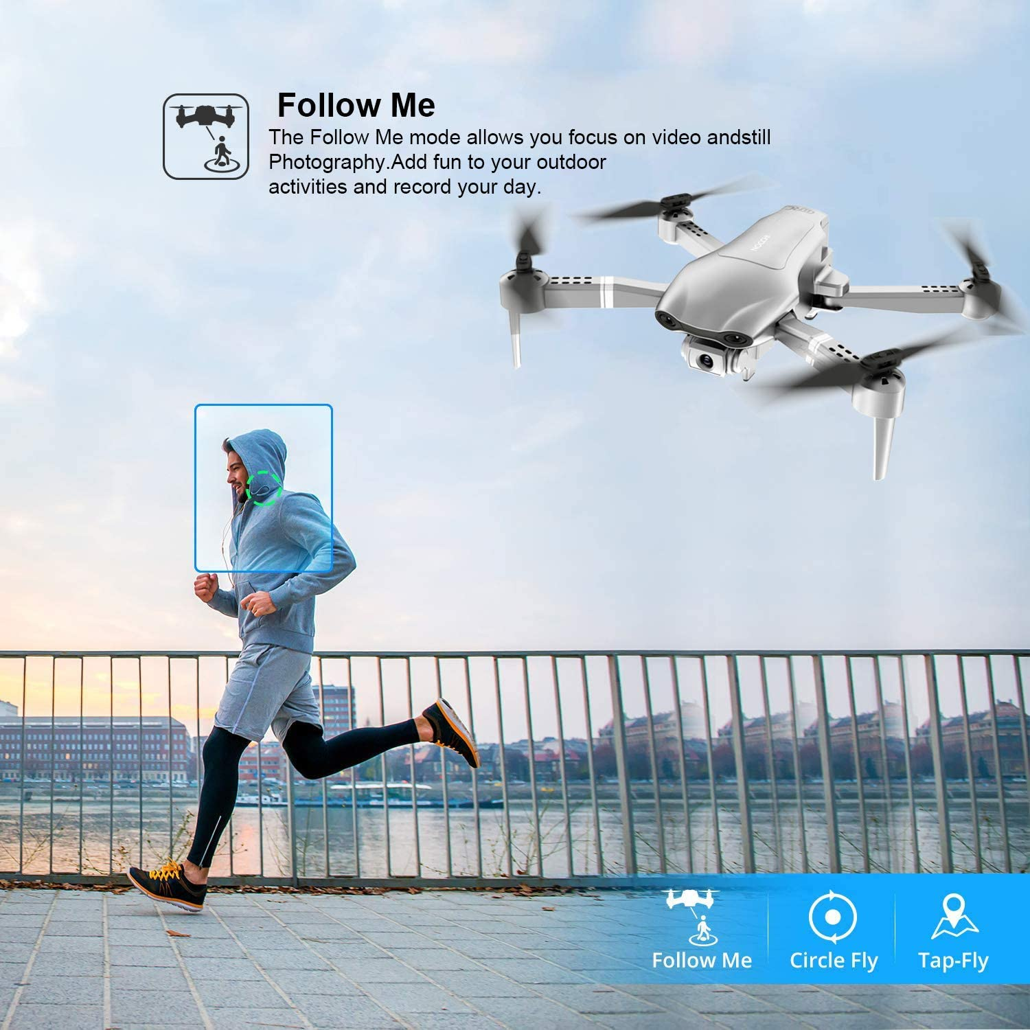F3 drone GPS 4K 5G WiFi live video FPV quadrotor flight 25 minutes rc distance 500m drone Profesional HD wide-an dual camera-3