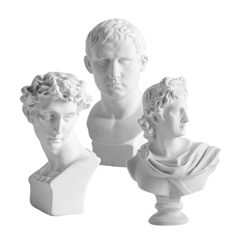 Mini Sculpture Model For Home Decoration European Character Statue Abstract Sketching Image Desk Decor Figurines Crafts Gifts