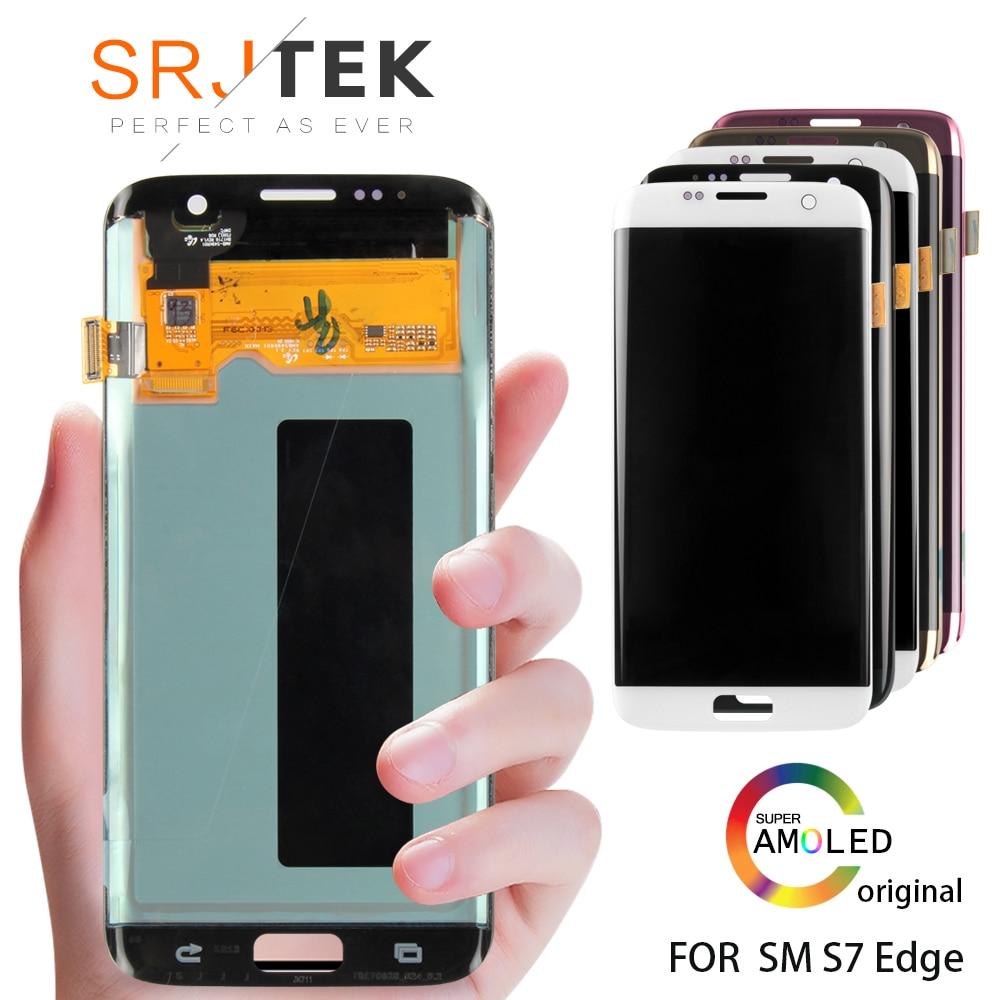 5.5 ORIGINAL AMOLED S7 bord affichage pour SAMSUNG Galaxy S7 bord écran tactile avec cadre pour SASMSUNG S7 bord LCD G935F