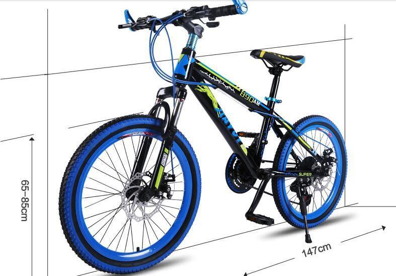 duplo mountain bike portátil das crianças bicicleta estudante com pedal