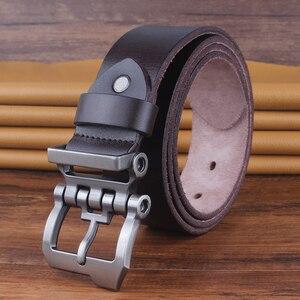Diseño punk, cinturón militar de cuero genuino, cinturón de lujo para hombres, hebilla de Metal, tmallfs, correa de talle alto de calidad para caza