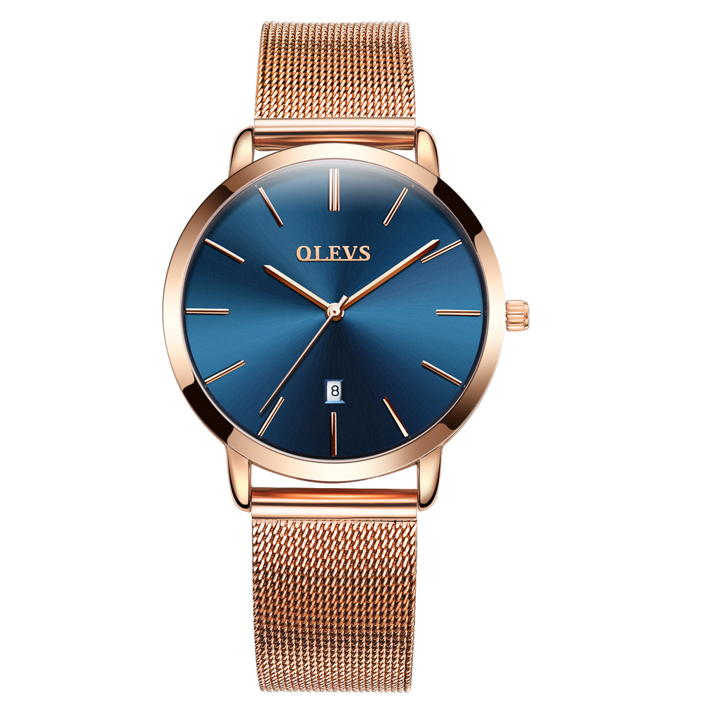 OLEVS Womens Watches Luxury Fashion Casual Waterproof Rose Gold Mesh Band Ladies Bracelet Quartz Wristwatches Gifts For Women