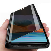 Funda magnética con tapa para Xiaomi Redmi Note 10 Pro, espejo inteligente, 4G, no 10Pro