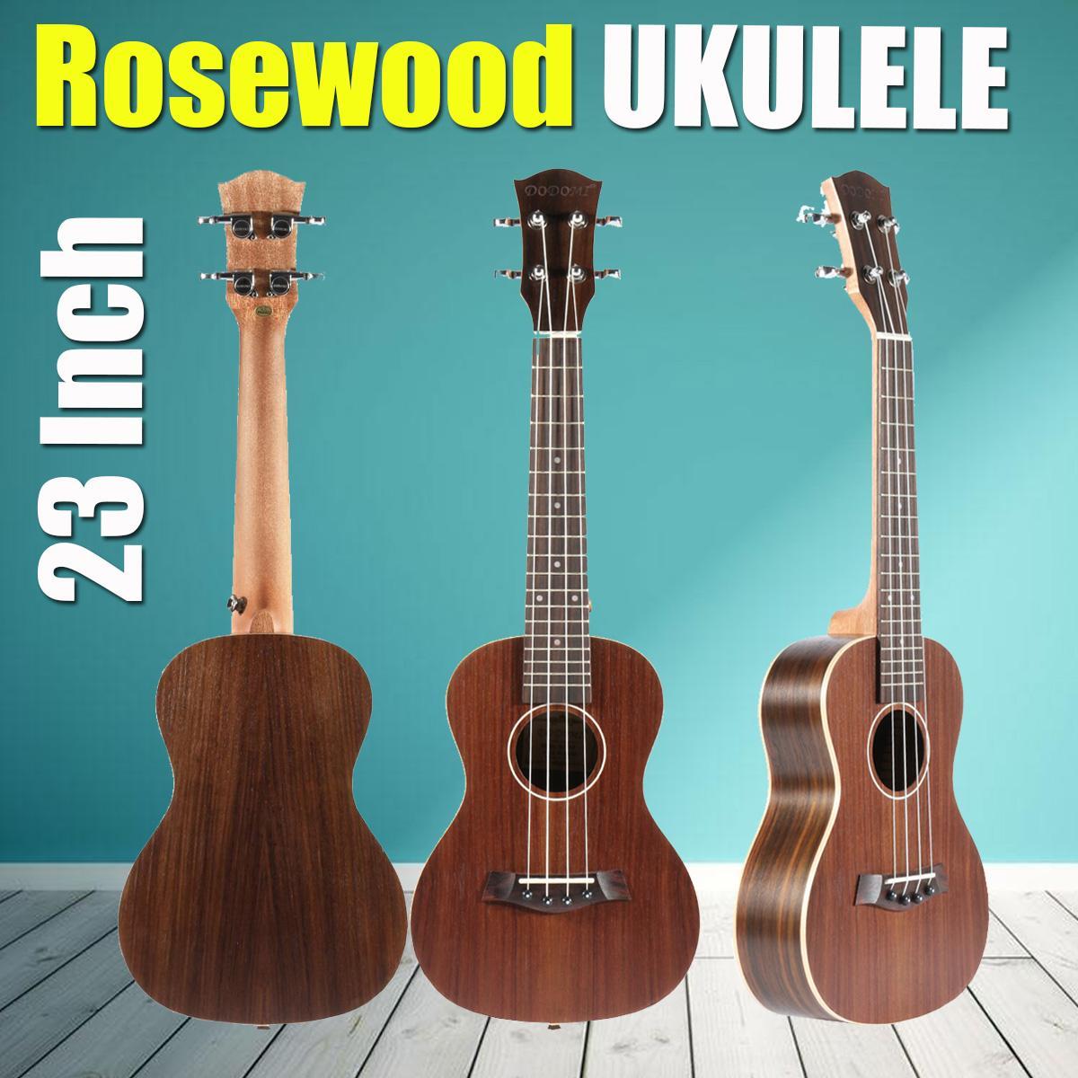 Zebra 23 Inch Rosewood 4 Strings Fretboard Concert Ukulele Electric Guitar Guitarra For Musical Stringed Instruments Lovers