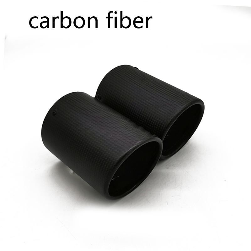 lowest price 2PCS Carbon Fiber Car Exhaust Tip Muffler Pipe Cover For Volkswagen VW Tiguan Touran Passat Polo Jetta Golf 6 7 MK6 MK7 1 4T 1 6