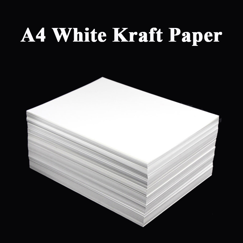 A4 White Kraft Paper DIY Handmake Card Making Craft Paper Thick Paperboard Cardboard 180g 230g 300g 400g 20/50pcs High Qua