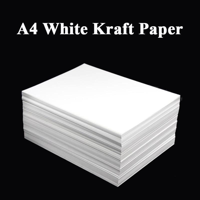 A4 White Kraft Paper DIY Handmake Card Making Craft Paper Thick Paperboard Cardboard 180g 230g 300g 400g 20/50pcs High Qua