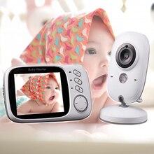 VB603 видео Детский Монитор 3,2 дюймов беспроводной цветной ЖК монитор детский s камера безопасности Видео няня 2 способа аудио разговора ночного видения