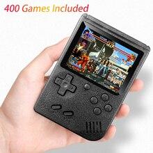 클래식 디자인 400 IN 1 Gameboy 레트로 포켓 비디오 게임 콘솔 3.0 인치 스크린 TV AV OUT for Child BOY Gift