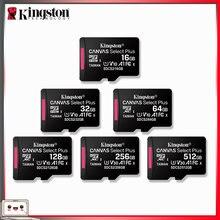 Kingston-carte mémoire Micro SD, 16 go/32BG/64 go/128 go/256 go/512 go, livraison gratuite avec adaptateur OTG