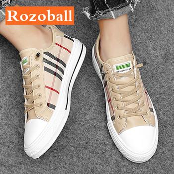 Tenisówki na lato dla mężczyzn oddychające buty wulkanizowane mężczyźni trampki lekkie mężczyźni na co dzień buty sportowe antypoślizgowe Dropshipping Rozoball tanie i dobre opinie PŁÓTNO CN (pochodzenie) Na wiosnę jesień Fabric TOTEM Plecionka Adult NONE men shoes casual shoes Sznurowane Niska (1 cm-3 cm)