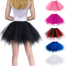 Kobiety spódnice Tutu księżniczka moda balet czarny Tutu włochata spódnica dla kobiet tiul halka spódnice elastyczna dorosła różowa spódniczka Tutu