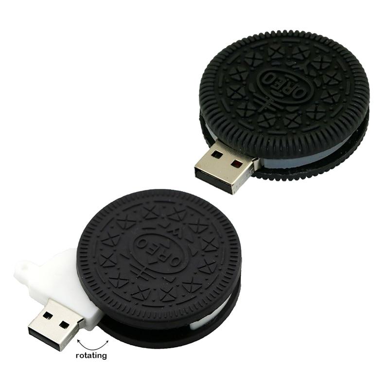 Cute Oreo Cookies Pen Drive 8GB 16GB Food Biscuit USB Stick USB Flash Drive Memory Stick Storage USB 2.0 U Disk USB Drive U Disk