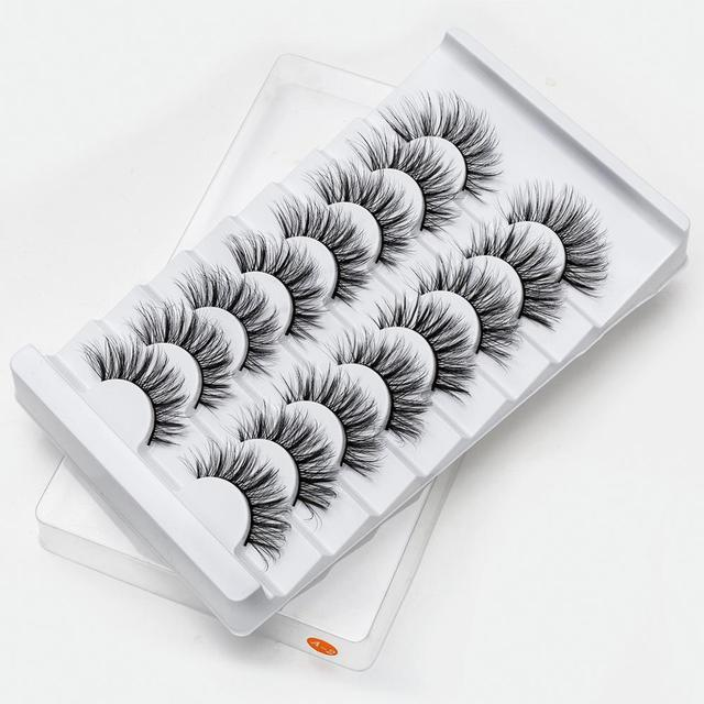 SEXYSHEEP 4/8 pairs 3D Mink Lashes Natural False Eyelashes Dramatic Volume Fake Lashes Makeup Eyelash Extension Silk Eyelashes 3