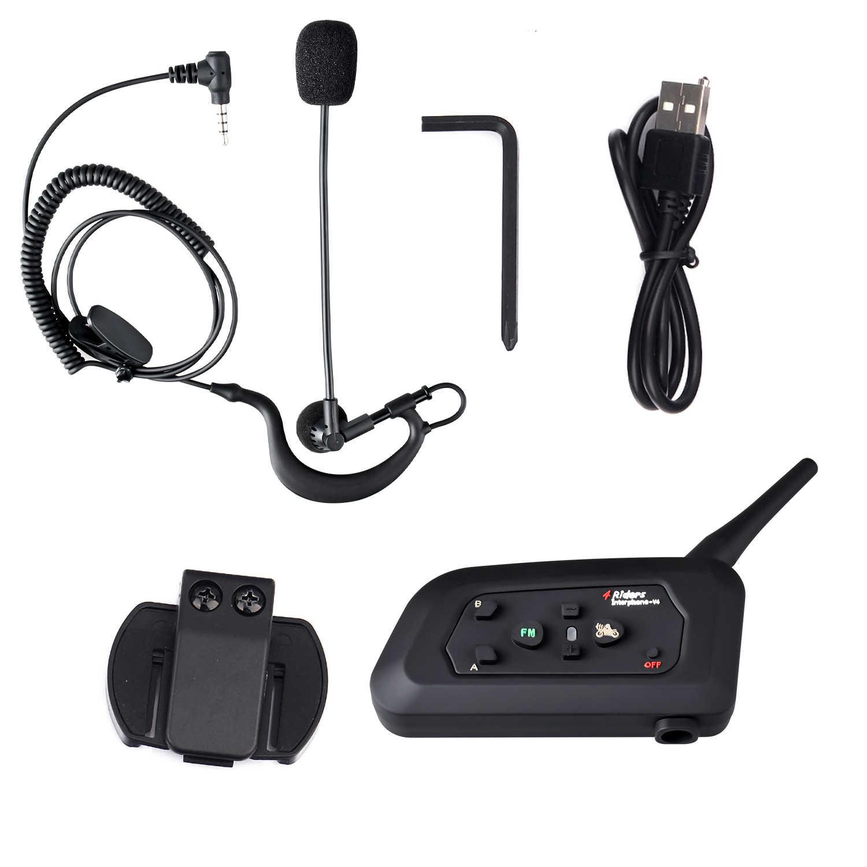 Fodsports бренд V4, 1200 м, 4 человека, говорящие в одно и то же время, для футбольного рефери, судейского наушника, Водонепроницаемый Bluetooth домофон