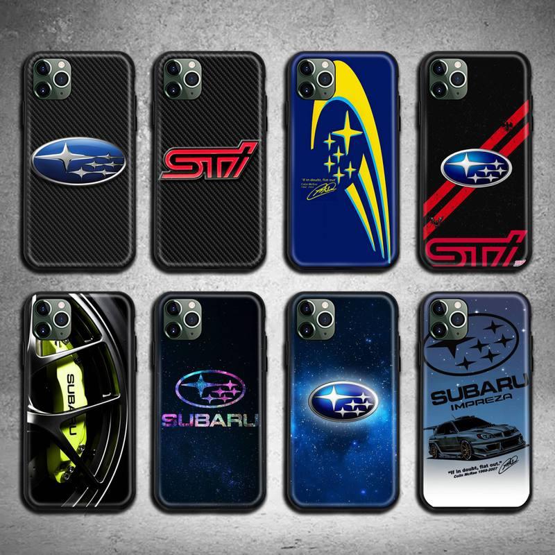 Чехол для телефона с логотипом автомобиля Subaru для iphone 12 11 Pro Max Mini XS Max 8 7 6 6S Plus X 5S SE 2020 XR