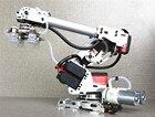 6DOF mechanical arm air pump aluminum alloy industrial robot model six axis robot 201 arduino suction cup