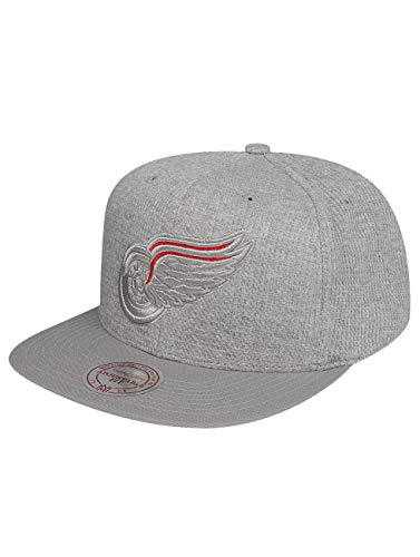 Mitchell & Ness Mujeres Gorras Snapback gaufre Detroit rouge ailes casquette, casquettes de baseball, casquette pour homme, casquette pour femme, camionneur, chapeau