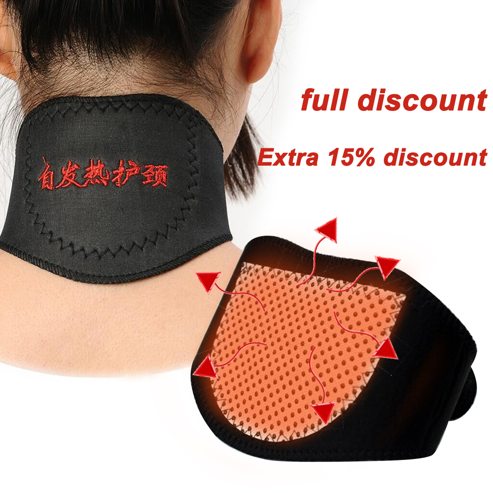 Neck Protect Band Massager Belt Magnetic Neck Support Tourmaline Belt Magnet Therapy Self-heating Brace Wrap Health Care