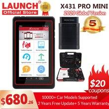 LAUNCH X431 Pro Mini V3.0 كامل نظام سيارة أداة تشخيص OBD OBD2 بلوتوث/Wifi رمز القارئ الماسح الضوئي X 431 الايجابيات المصغرة X431 فولت