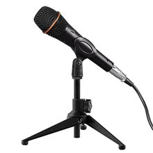цена на 1Pcs Portable Metal Microphone Stand Desktop Tripod Stand Wired Wireless Microphone Stand Desktop