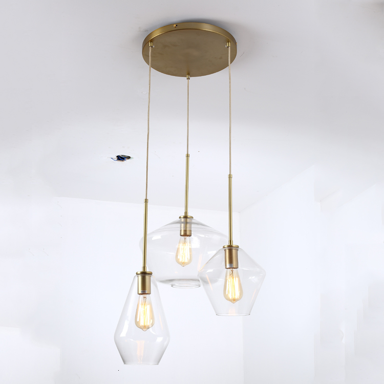 27 Modern Hand Blown Glass Pendant Lamp For Restaurant With E Lamp Holder Hanging Lamp Kitchen Dining Bar