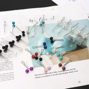 Image 2 - 12 pièces/ensemble musulman Hijab perle Clip broche broches écharpe sécurité Clip femmes broche