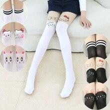 Cute Cat Tights for Girls Cartoon Pantyhose Children Elastic Baby Girl Stockings Thin Summer Velvet Kids Tights Infant Clothing