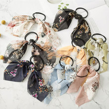 Pretty Cloth Elastic Hair Rubber Bands Women Girls Bows Tie Accessories Headwear Hot Selling
