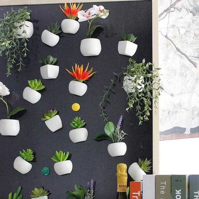 Urijk 1pc Fridge Magnets Cute Cactus Succulent Plant Magnet Button Cactus Refrigerator Message Sticker Home Decor 4