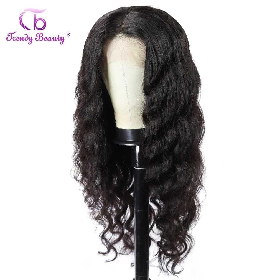 Indische Lose Welle Spitze Front Menschliches Haar Perücken Für Schwarze Frauen Pre Gezupft 13x 4/360 Spitze Vorne Perücke remy haar natürliche perücke
