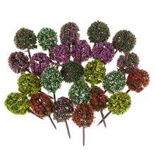 5шт% 2флот + пластик + миниатюра + цветок + дерево + растения + фея + сад + украшение + кукольный домик + поделка + модель