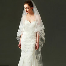 Tanpell Fashion Wedding Veils Ivory Tulle Appliques Edge Long wedding accessories bridal veil for wedding beatrix podolska rytmika dla dzieci