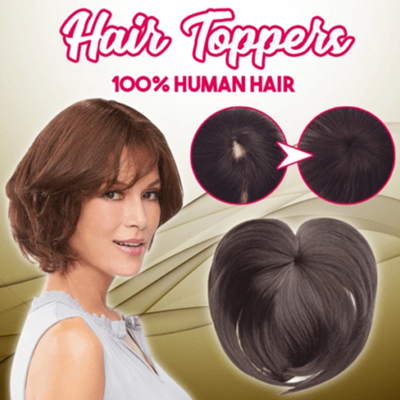 Silky Clip-On Hair Topper  Heat Resistant Fiber Extension For Women Available For Women Heat Resistant Daily False Hair