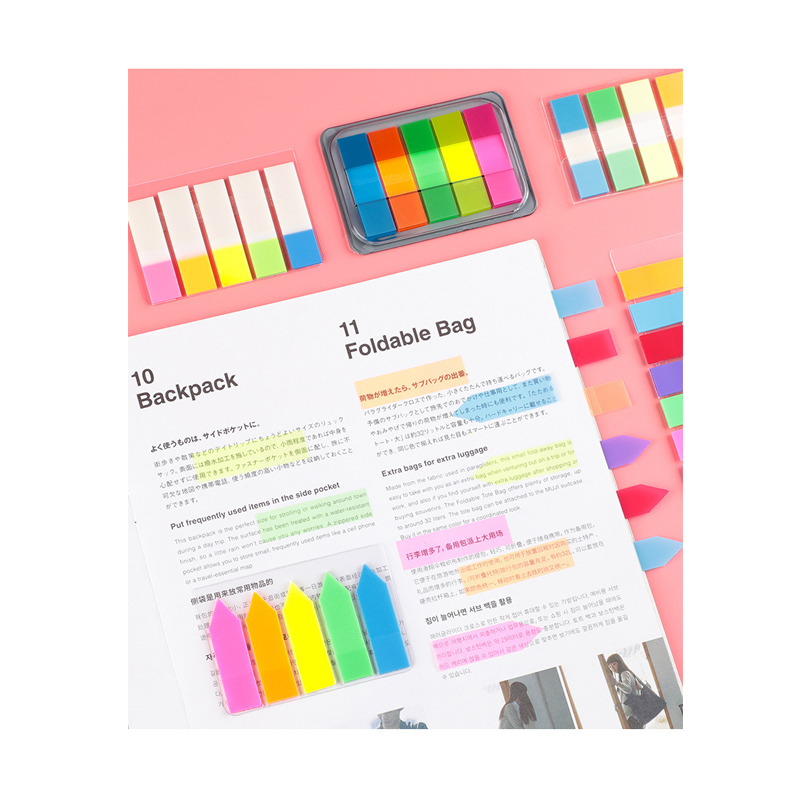 Indication Label Note Paper Instruction Label Paper File Classification Transparent Note Paper Cute Note Paper MBQ001-006-47