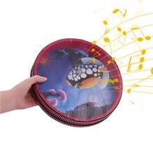 Мини 10-дюймовый из массива дерева сито для воды с рисунком в виде морских волн барабан кадр барабан нежные цвета морской волны звука музыкальная игрушка для детей