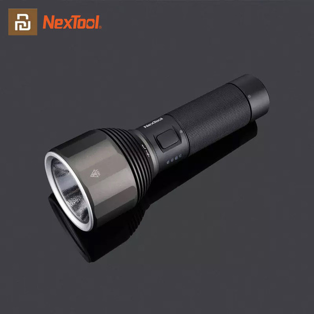 Youpin NexTool 2000lm 380m Outdoor Flashlight USB C Rechargeable IPX7 Waterproof Portable Flash Light for Travel Camping