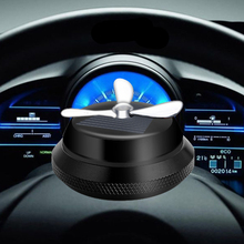 1PCS Solar Energy Car Air Freshener Double Ring Rotating Aluminum Alloy Perfume Styling Aromatherapy Decoration